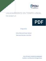 Algoritmos de Ordenamiento en Tiempo Lineal