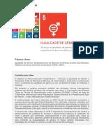 ONU. Documento Temático ODS 5 Igualdade de Genero