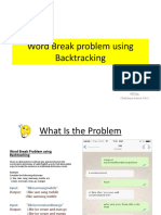 Word Break Problem Using Backtracking