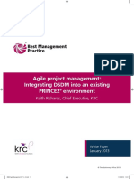 Agile Project Management Integrating DSDM Into an Existing PRINCE2 Environment