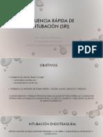 Secuencia Rápida de Intubación (SRI)