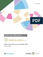 Informe de Precios del Indec de Junio 2018