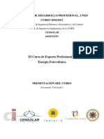 XI Curso de Experto Profesional en Energía Fotovoltaica