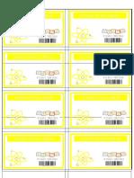 Yellow Name Tags