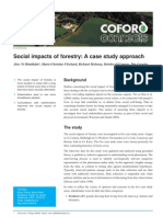 Social Impacts of Foresty a Case Study Approach
