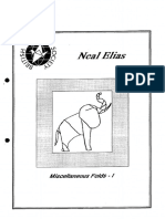 (BOS Booklets 34) Dave Venables (Editor)-Neal Elias. Miscellaneous Folds - I (Origami Book)-British Origami Society (1990)