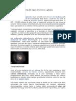 Teorías Del Origen Del Universo y Galaxias