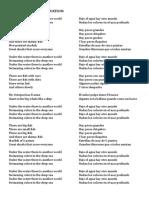 Cancion de Animales Acuaticos