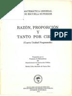 Razon, Proporcion y Porciento