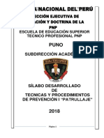 Silabo Patrullaje i 2018