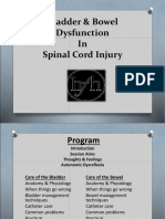Bladder & Bowel Dysfunction in SCI