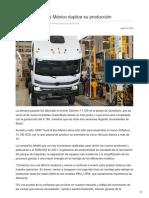 MAN Truck & Bus México duplica su producción
