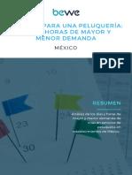 Reporte Horas y Días de Mayor y Menor Demanda en Las Peluquerías MX
