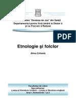 Etnologie Si Folclor (Semestrele 1 Si 2)_Alina Iorga (Crihana)