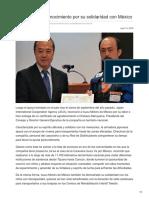 Isuzu recibe reconocimiento por su solidaridad con México