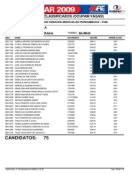 Classificados Vestibular UPE 2009