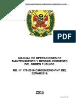 Manual Operacione Mantenimiento Rest Orden Publico 2016 Unlocked
