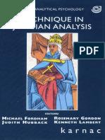 Fordham, M. - Technique in Jungian Analysis