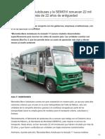 Mercedes-Benz Autobuses y la SEMOVI renuevan 22 mil microbuses con más de 22 años de antiguedad