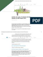 (8) Gestión de Costes. El Método Del Valor Ganado Con MS Project 2013 _ LinkedIn