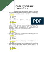 Balotario de Investigación Tecnológica Pnp