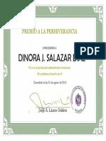 Diploma Perseverancia