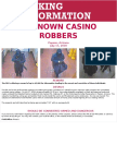 Unknown Casino Robbers Poster