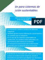 Innovación Para Sistemas de Producción Sustentables