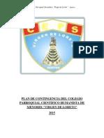 Plan de Contingencia Del Colegio Parroquial
