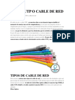 Cable Utp o Cable de Red