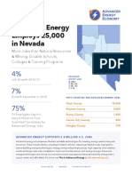 AEE Jobs Fact Sheet - Nevada 2018