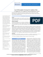 Intensive Multimodality Treatment for Children With Newly Diagnosed CNS Atypical Teratoid Rhabdoid Tumor