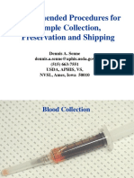Recommended Procedures for Sample Collection Preservation and Shipping-D.senne