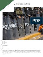 A Democracia y El Estado en Perú