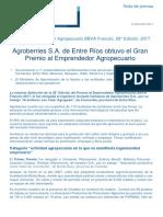 Nota Ganadores Premio Al Emprendedor Agropecuario 2017