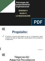 9. Las Negociaciones