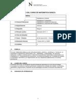 SILABO Matematica Basica Arquitectura 2014 1
