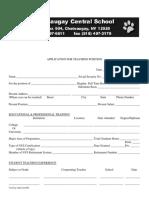 Application for Teaching Position Editable