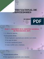 4. Registro Nacional de Proveedores