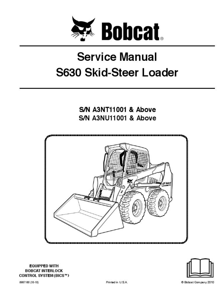 Bobcat S630 Service manual (taller , workshop)   Loader