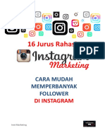 16 Jurus Rahasia Instagram Marketing