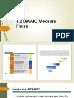 2.1B SSGB 1.2 DMAIC Measure Phase – Module 2