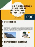 Elementos y Dispositivos de Seguridad en Instalaciones Fotovoltaicas