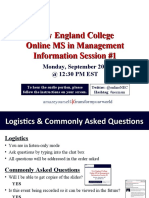 New England College MS in Management Sept 20th Info Session #1