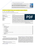 A Review on Energy Scenario and Sustainable Energy in Malaysia