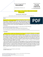 A Thermal Degradation Study of Insulation Materials Extruded Polystyrene