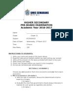 Eco Mock Exam