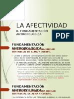 Opcional La Afectividad - 2 Fundamentación Antropológica