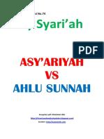 Kajian Utama Edisi 74 Majalah Asy-Syariah_Asy 'Ariyah vs Ahlu Sunnah