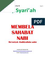 Kajian Utama Edisi 78 Majalah Asy-Syariah_Membela Sahabat Nabi_Muawiyah Radhiyallahu Anhu